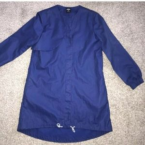 Kate Spade Saturday Blue Twill Trench Coat Small